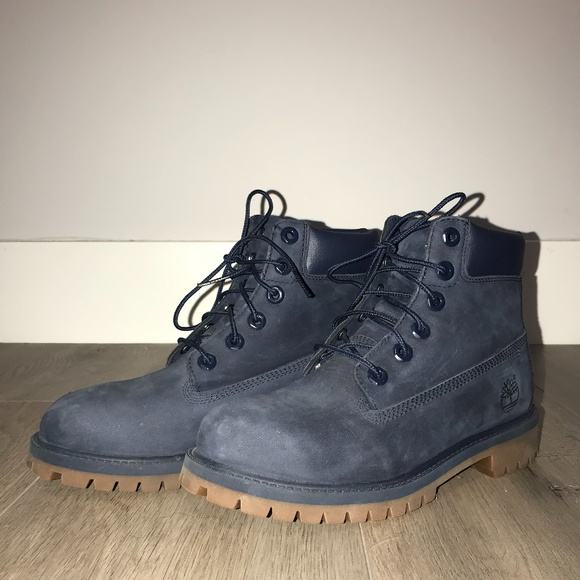TIMBERLAND NAVY BLUE SUEDE BOOTS